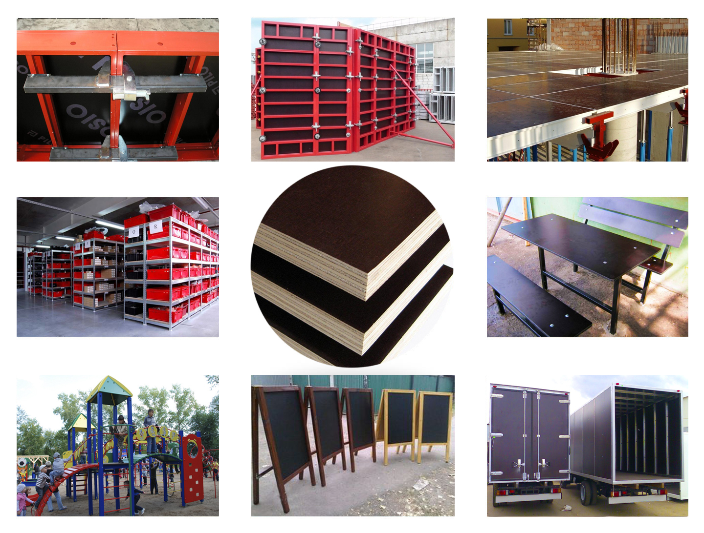 use of formwork plywood